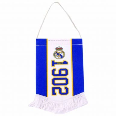 Real Madrid Crest Mini Pennant for the Home or Cars