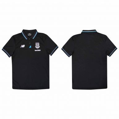 Official Stoke City Polo Shirt by New Balance (Adults)