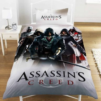 Assassins Creed Montage Single Bed Duvet Cover Set
