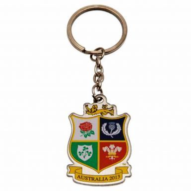 Official British & Irish Lions Rugby Crest Keyring