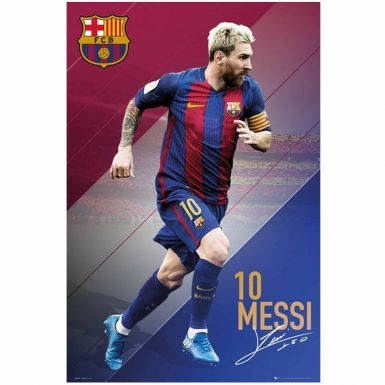 Giant FC Barcelona & Lionel Messi Player Poster