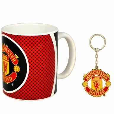 Manchester United Crest Mug & Keyring Gift Set
