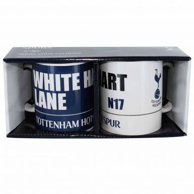 Official Tottenham Hotspur Twin Ceramic Mug Gift Set
