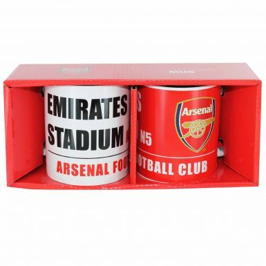 Official Arsenal FC Twin Ceramic Mug Gift Set