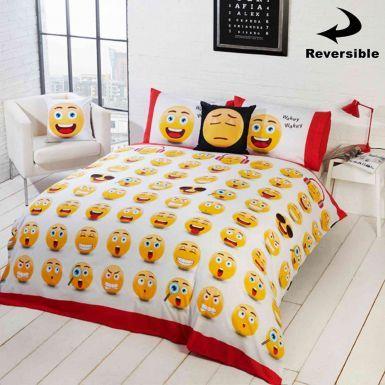 Reversible Emoji Icons Single Duvet Cover Set