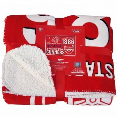 Official Arsenal FC Fleece Sherpa Blanket
