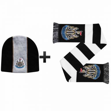 Newcastle United Winter Warmers Hat & Scarf Set