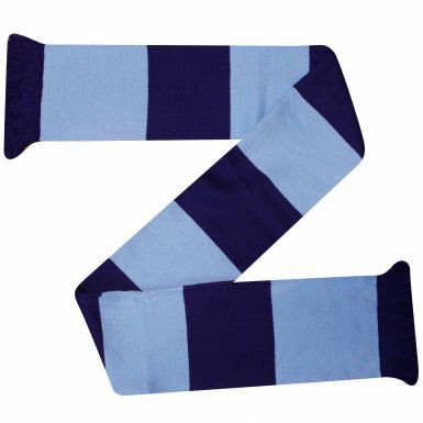 Sky Blue & Navy Blue Traditional Style Bar Scarf