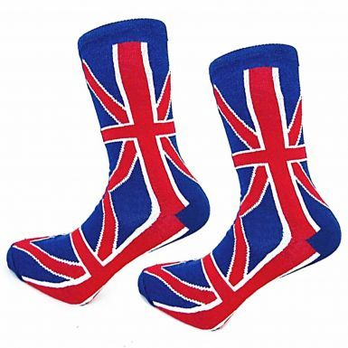 Pair of Mens All Over Union Jack Design Socks (Cotton Rich)