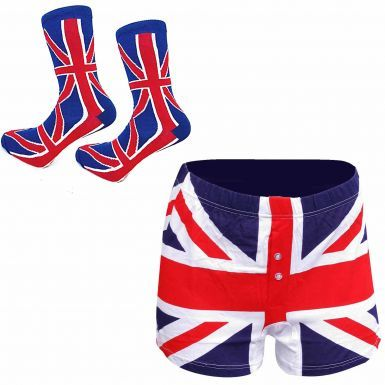 Mens Union Jack Socks and Boxers Shorts Gift Set