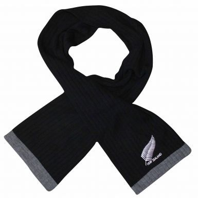 New Zealand Embroidered Fern Logo Rugby Scarf