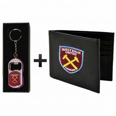 West Ham United Leather (PU) Wallet & Keyring/Torch Gift Set