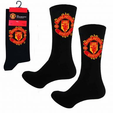 Official Manchester United Football Crest Socks (Adults)