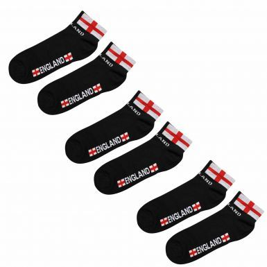 3 Pairs of Unisex England Cross of St George Trainer Socks (Adults)