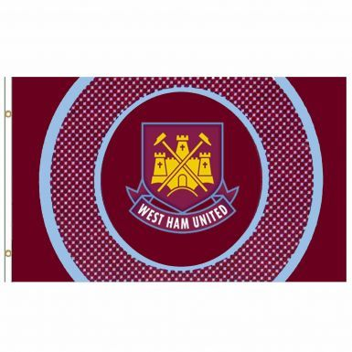 Giant West Ham United Crest Flag (5ft x 3ft)
