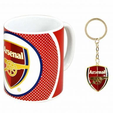 Official Arsenal FC 11oz Ceramic Mug & Keyring Gift Set