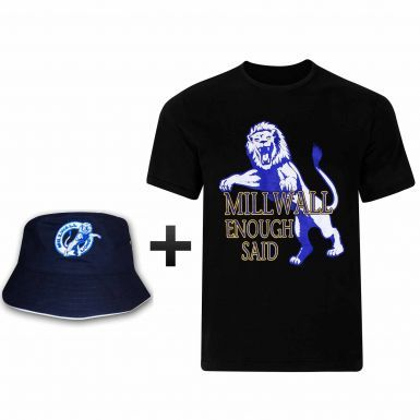 Millwall No One Likes Us T-Shirt & Sun Hat Gift Set