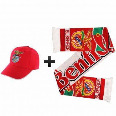 SL Benfica Ultimate Soccer Fans Scarf & Cap Gift Set