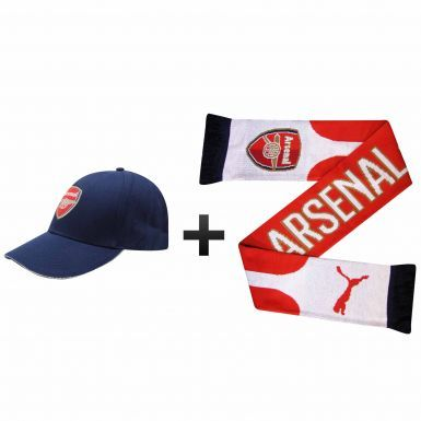 Arsenal FC Ultimate Fan Scarf and Cap Gift Set