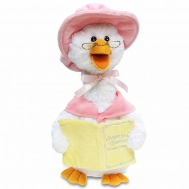 Kids Mother Goose Plush Toy Singing 5 Nursery Rhymes