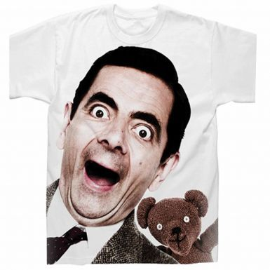Official Mr Bean & Teddy Bear Graphic T-Shirt