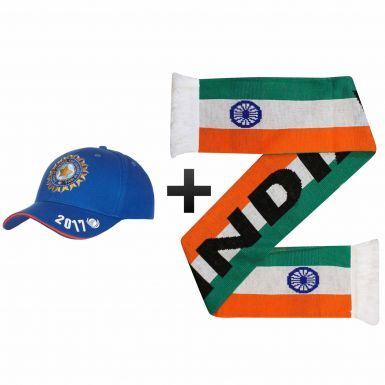India ICC Cricket 2017 Champions Trophy Scarf & Cap Gift Set