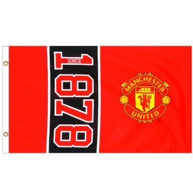 Giant Manchester United EST 1878 Crest Flag