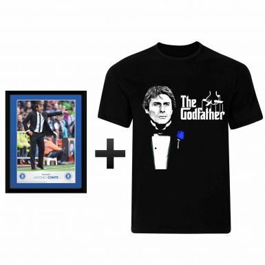 Antonio Conte Chelsea FC Framed Print & T-Shirt Gift Set