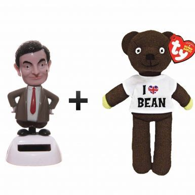 Official Mr Bean Dancing Toy & Beanie Bear Gift Set