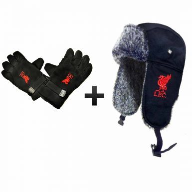Liverpool FC Winter Warmers Fur Hat & Gloves Set