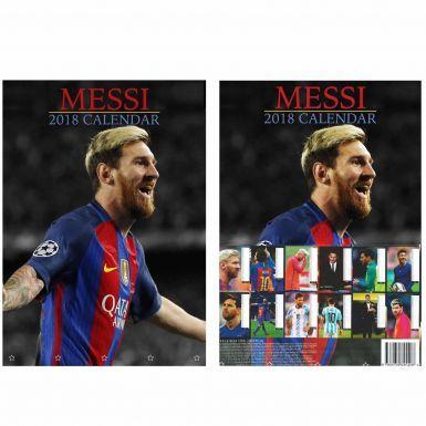 Lionel Messi & FC Barcelona 2018 Calendar (A3 Full Colour)