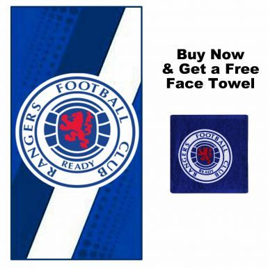 Official Rangers FC Towel & Free Face Towel