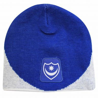 Official Portsmouth FC Crest Beanie Hat