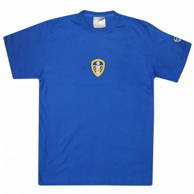 Official Kids Leeds United Retro Crest T-Shirt