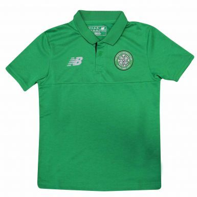 Official Celtic FC Kids Polo Shirt by New Balance