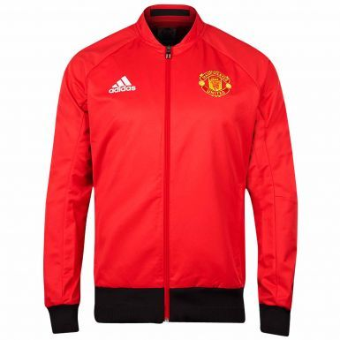 Manchester United Crest Zipped Tracktop by Adidas