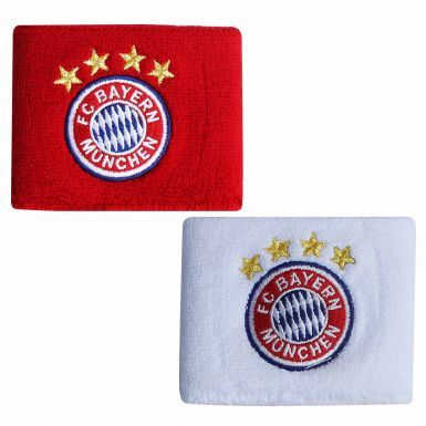 Bayern Munich Crest Wristbands by Adidas