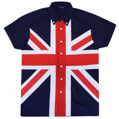 Union Jack Flag Button Up Shirt (Adults)