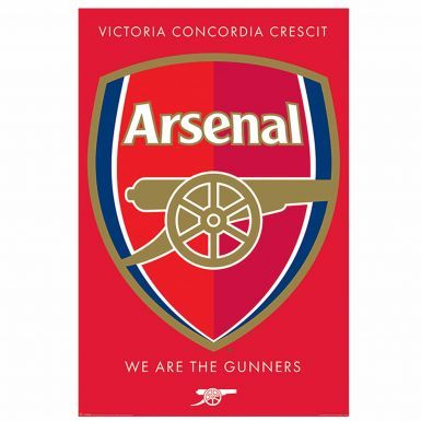 Official Arsenal FC Soccer Crest Poster