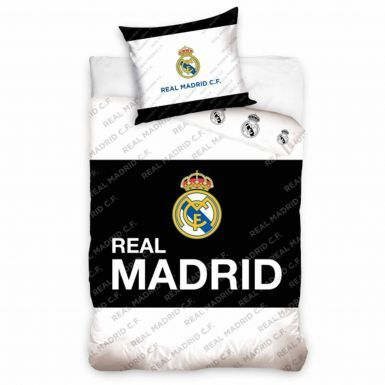 Real Madrid Single Duvet Cover Set With Pillowcase