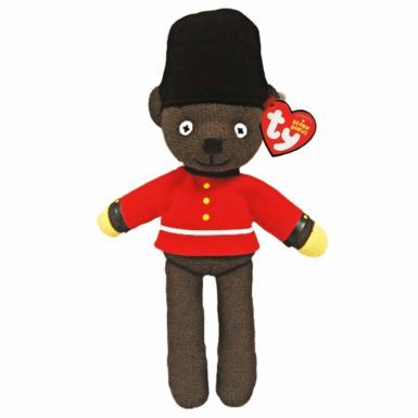 Official Mr Bean's Teddy (Beanie Bear by Ty) Queens Guardsman