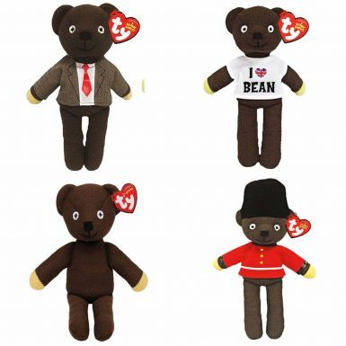 Four Mr Bean Beanie Bears Official Gift Set