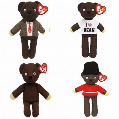 Four Mr Bean Beanie Bears Official Gift Set