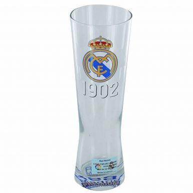 Real Madrid Crest Pilsner Glass