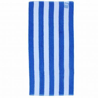 Giant Blue & White Striped Premium Cotton Beach Towel