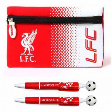 Official Liverpool FC Pencil Case & 2 Pen Set