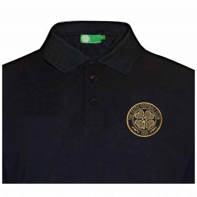 Celtic FC Crest Leisure Polo Shirt (Adults)