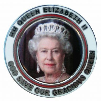 HM Queen Elizabeth 90th Birthday Picture Badge
