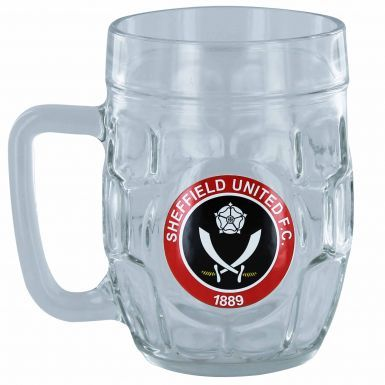 Sheffield United Crest Dimple Pint Glass