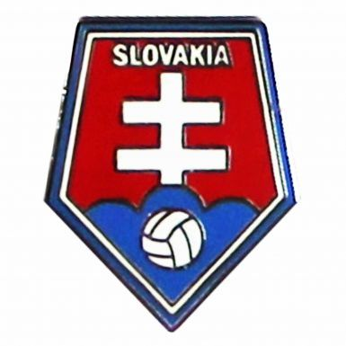 Slovakia Football Crest Pin Badge